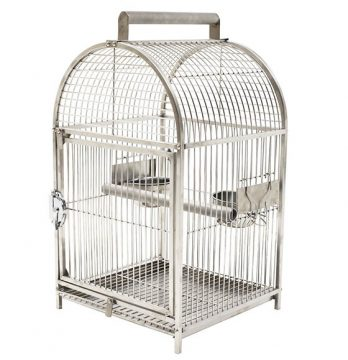 Pawhut stainless steel bird travel cage