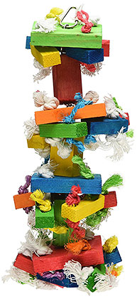 Knots n Blocks parrot toy medium size