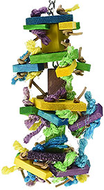 Paradise Knots Block parrot toy small size