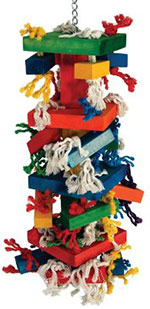 Paradise Knots Blocks toy for parrots xxlarge size