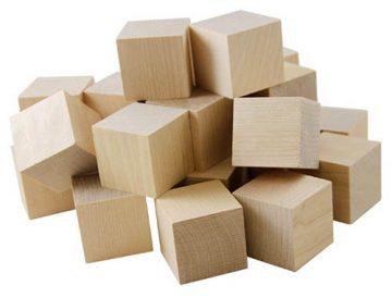 Wood cubes for parrots