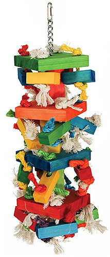 X-Large Knots and Blocks bird toy