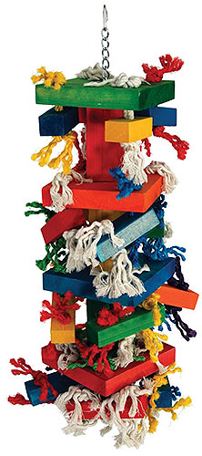 XX Large Knots n Blocks parrot toy